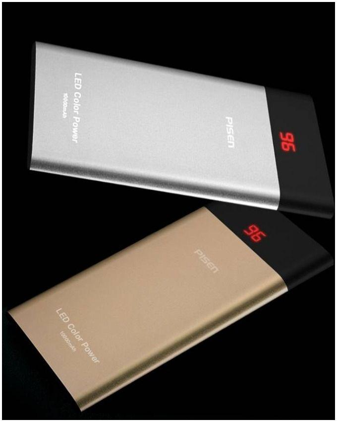 Pack of 2 - Ultra Slim Power Bank for iPhone & Samsung - 10000 mAh - Silver & Gold