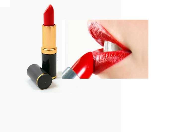 Shocking Red Glossy Lipstick