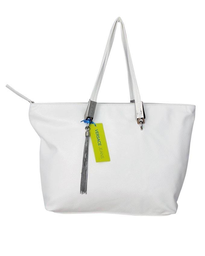 White Leather Handbag For Women