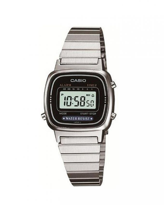 Casio Stainless Steel Digital Watch For Women - LA670WD-1DF