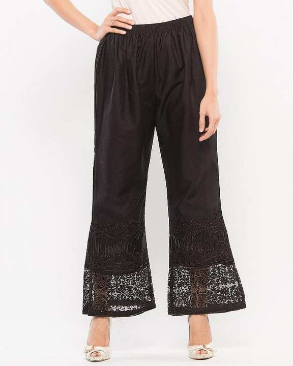 Black embrioded trouser