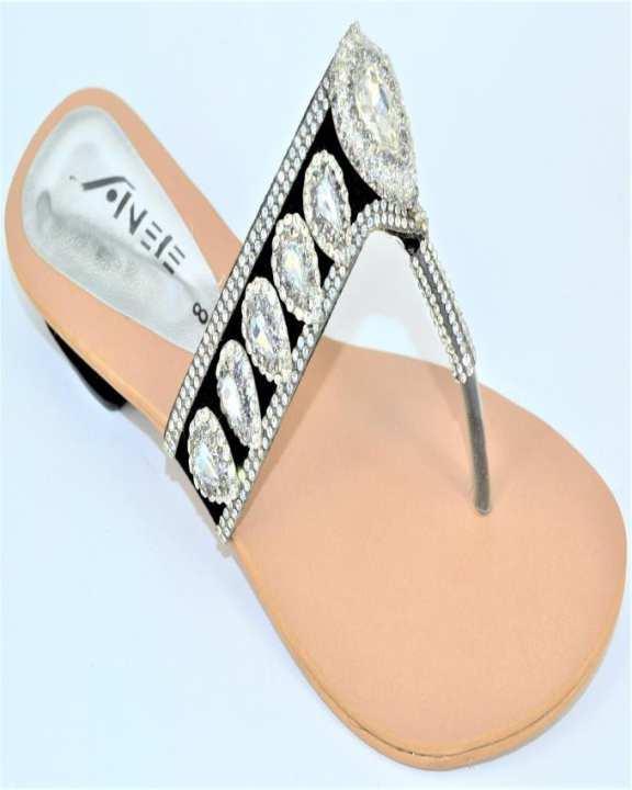 Silver Suede Slipper for Women