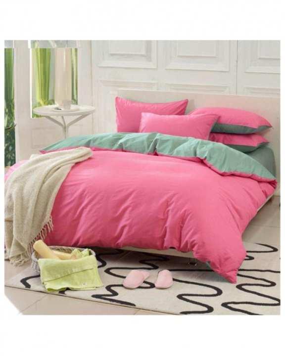 Pink Cotton Bed Set