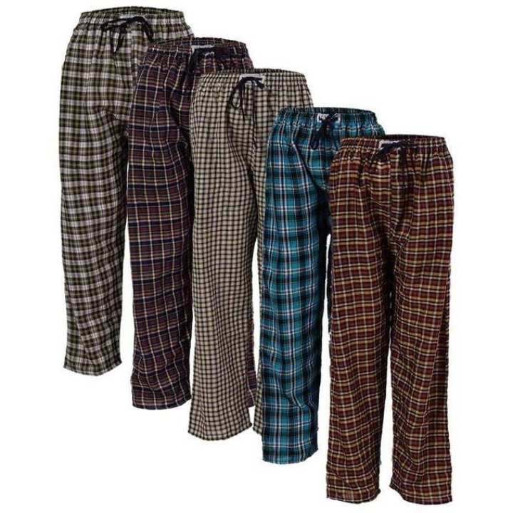 Pack of 5 Casual Checkered Trousers For Men