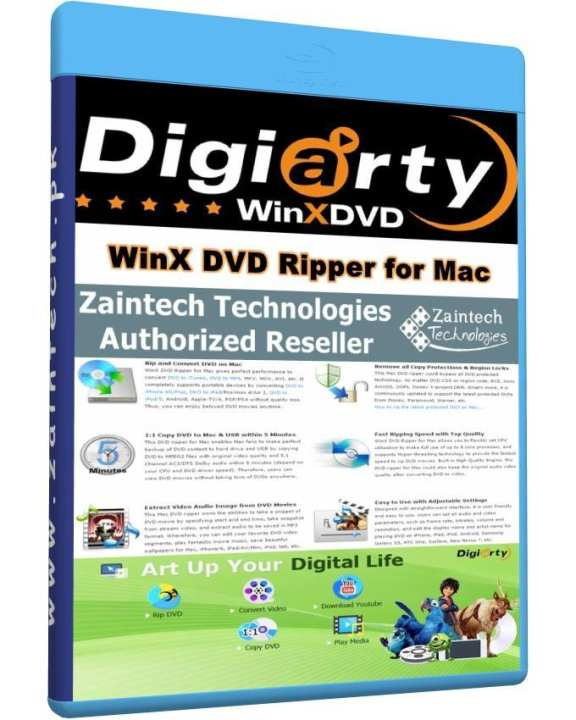 WinX DVD Ripper for MAC - 1 PC License