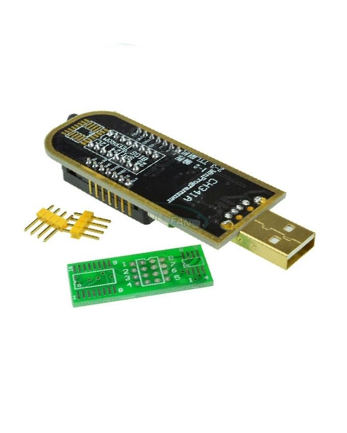 USB Programmer CH341A Series 24xx EEPROM And 25xx SPI Flash BIOS Read And  Writer Module