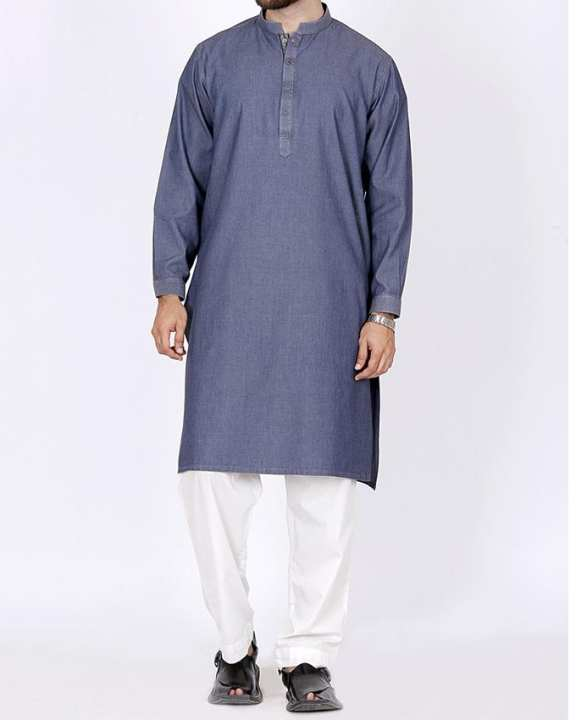 J. Denim Blue Men's Kurta - Winter collection volume 4,2017