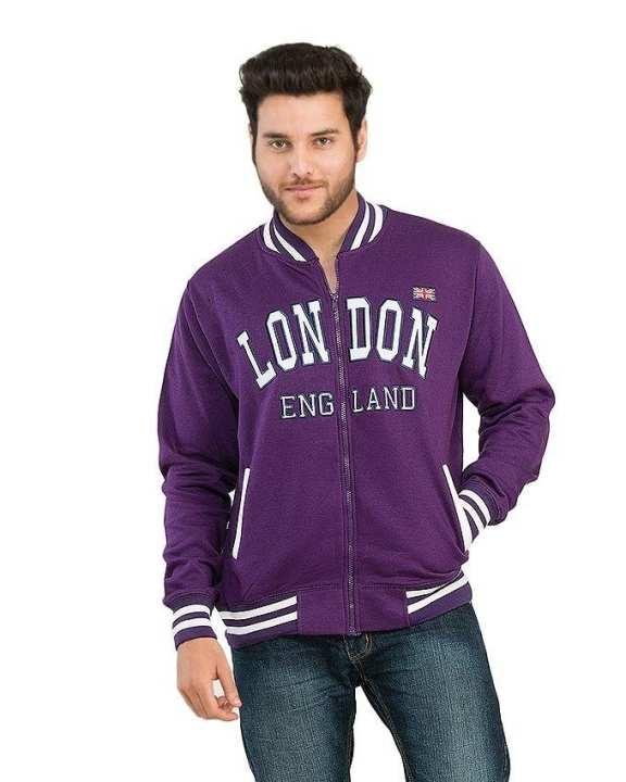 Purple Fleece Jacket for Men