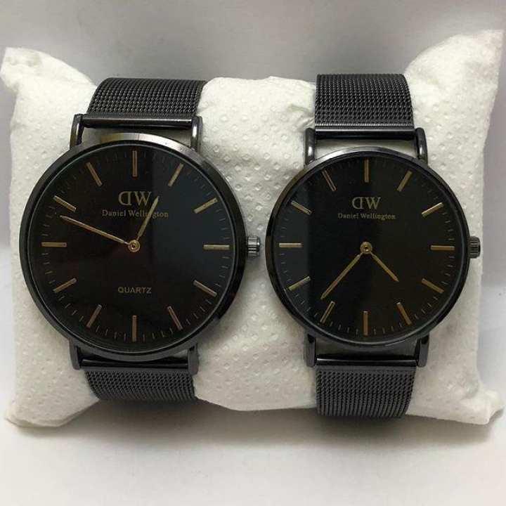 Pair Of Black Wrist Watch
