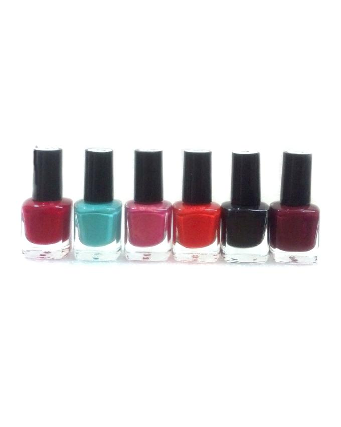 Pack of 6 - Peel Off Nail Polish - Multicolor