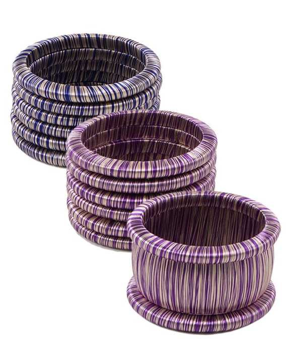 Pack of 3 Multicolour Plastic Bangles for Women