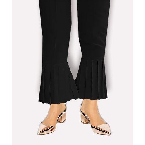 Black Frill Trouser For Women