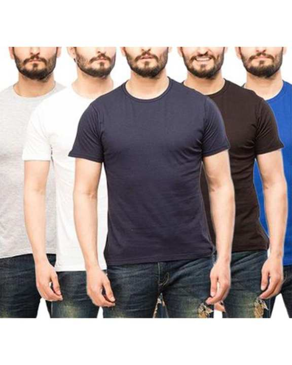 Pack of 5 Short Sleeve Round Neck T-Shirts