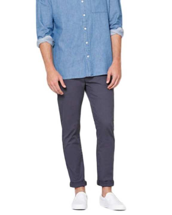 Blue Slimfit Chino Pant For Men