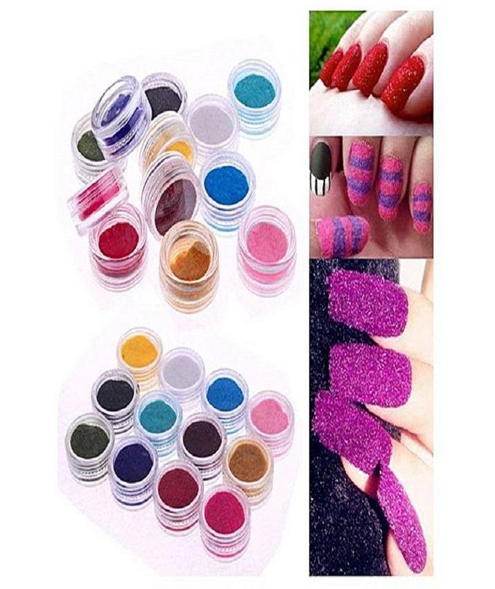 Pack Of 12 - Velvet Nail Art Glitter Set