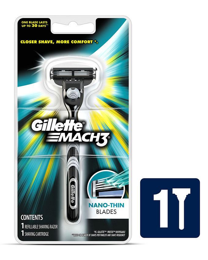 Gillette Mach 3 Shaving Razor 1up