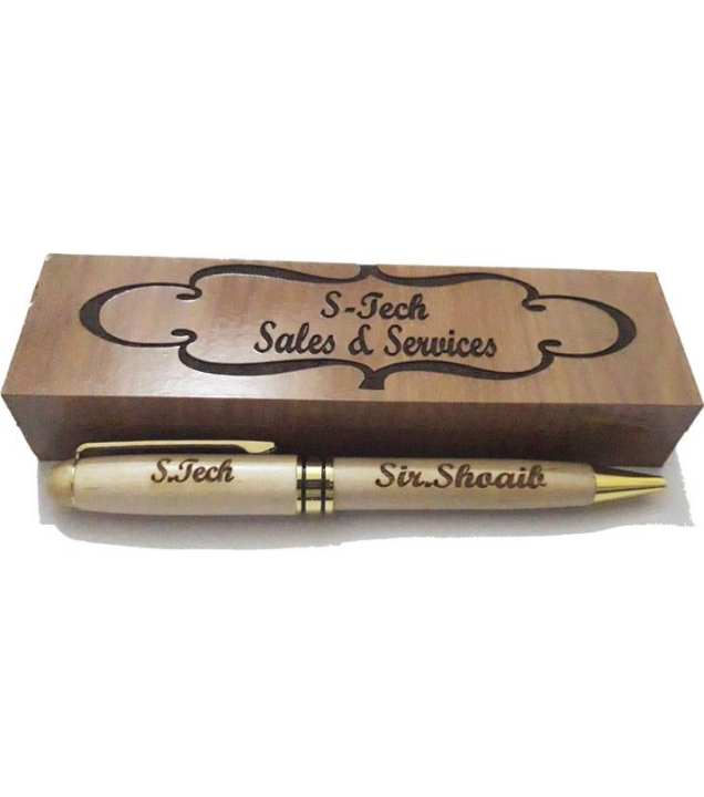 Customize Engraved Wooden ball pen with wooden box