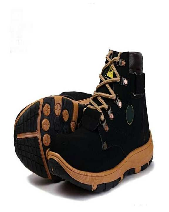 Black Artificial Leather Lifestyle Boots For Men