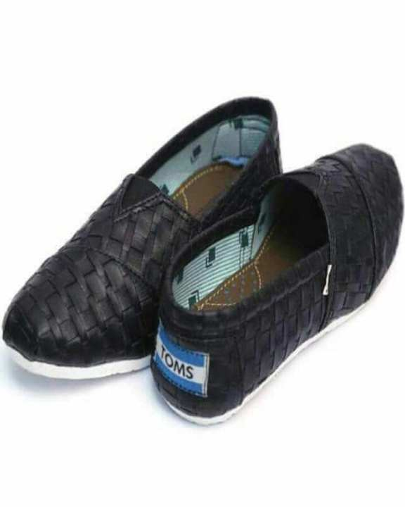Checkered Style Canvas Shoes For Men - Black