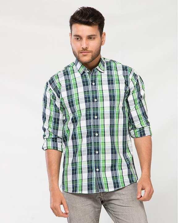 Multicolor Cotton Checkered Shirt For Men