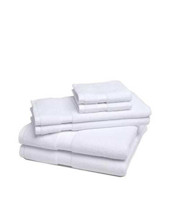 Shop2Home Set of 6 - Superior Luxurious Cotton Bath Towels - White