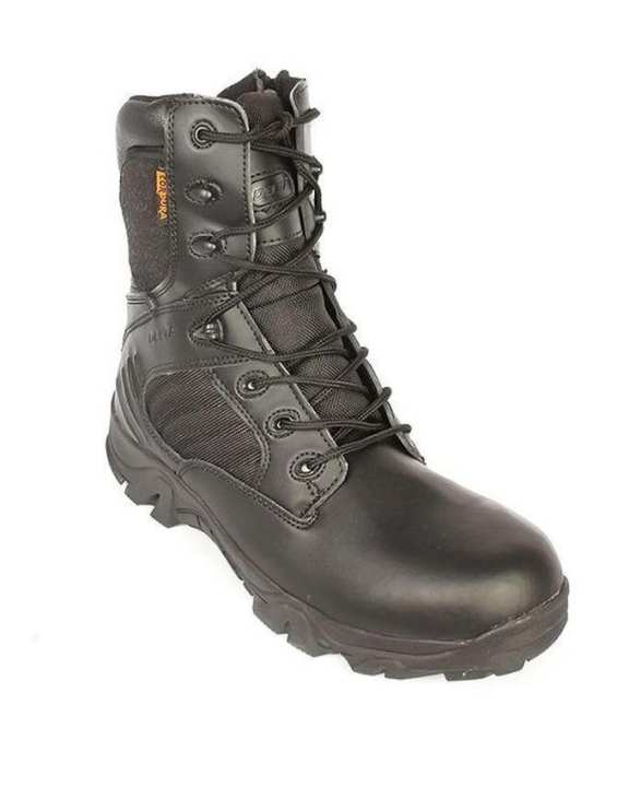 Black Leather Trekking  & Army Delta Boots Shoes For Men