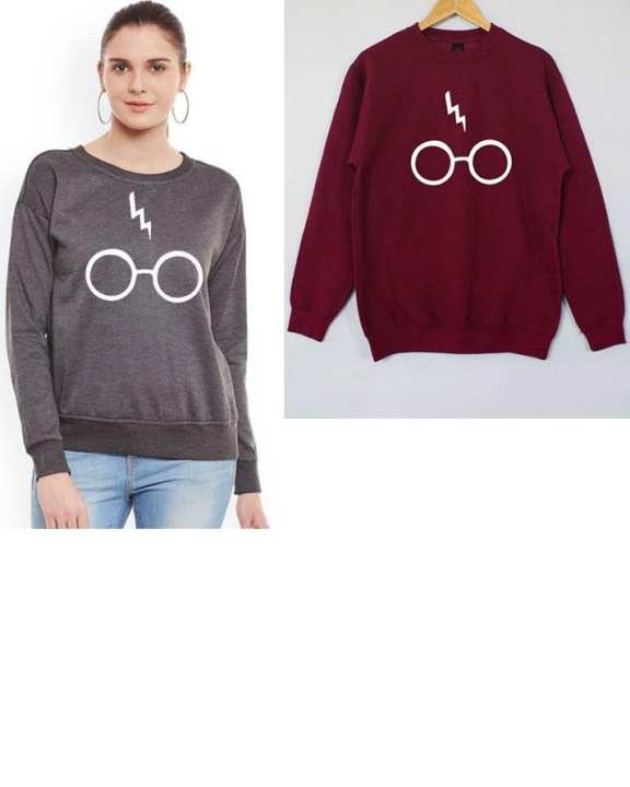 Pack Of 2 ( Grey & Maroon Porter ) Sweatshirt For Women
