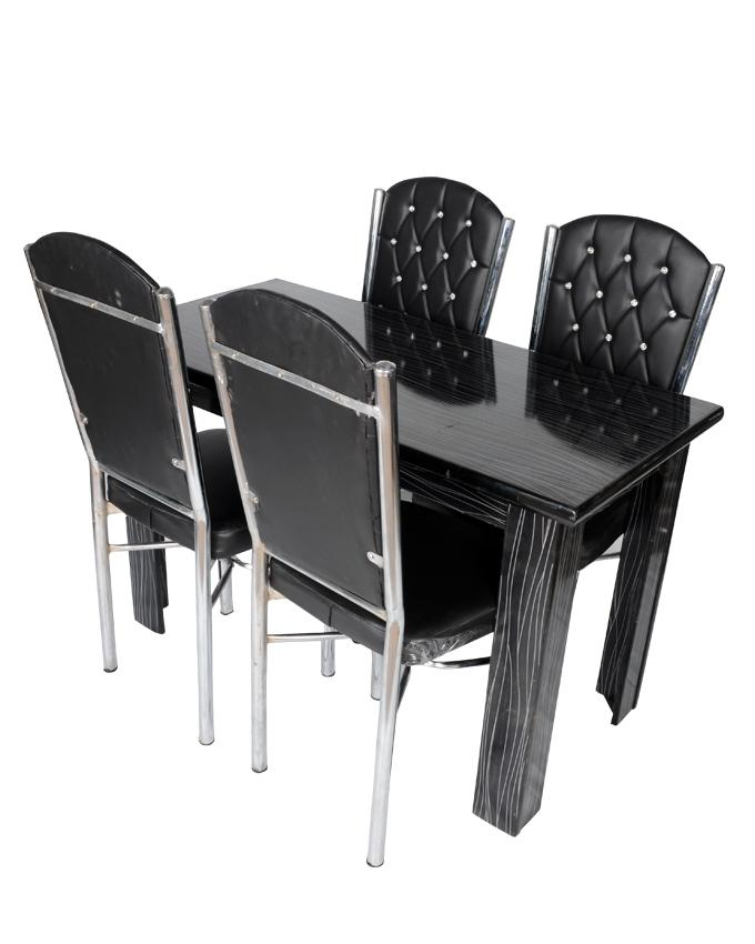 UV TABLE SET With 4 Chairs-BLACK-STANDARD