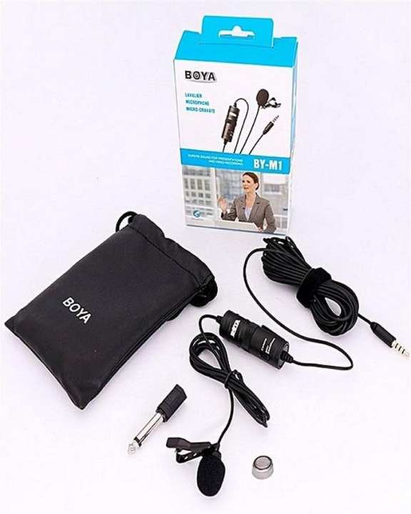 Lavalier Microphone for all Devices - M1 - Black