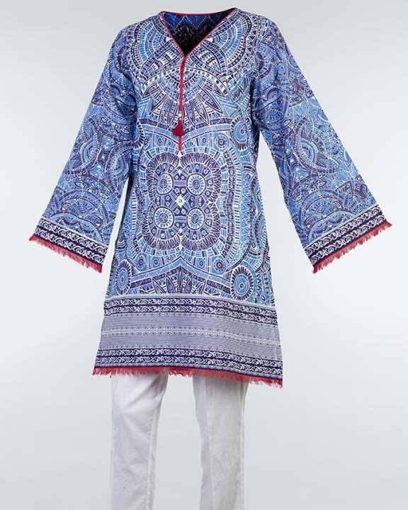 Multicolor Cambric Kurta For Women