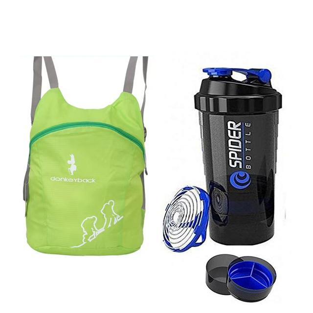Pack of 2 Smart Protien Shaker and Gym Bag