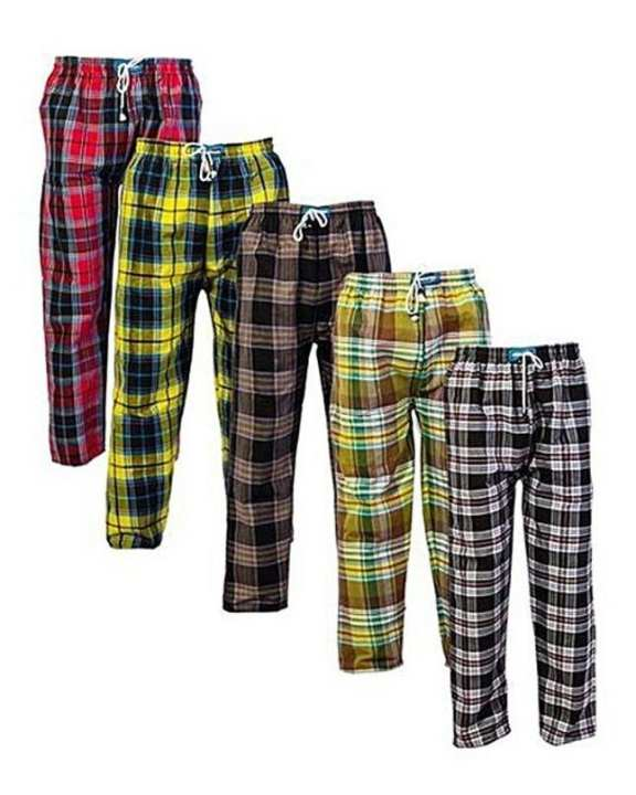 Pack Of 5 - Multicolour Cotton Checkered Trousers For Men