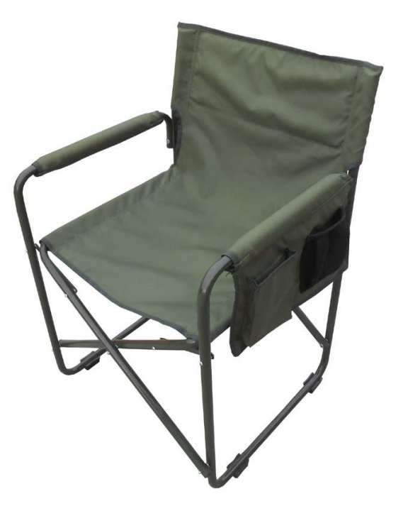 Camping Chair With Iron Arms - Green
