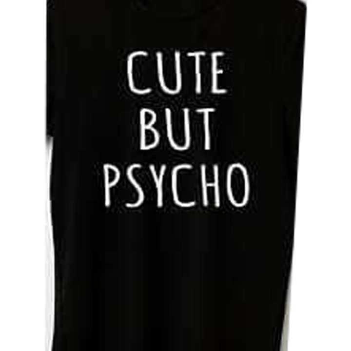"""CUTE BUT PSYCO"" Printable Shirt Sticker for Boys"