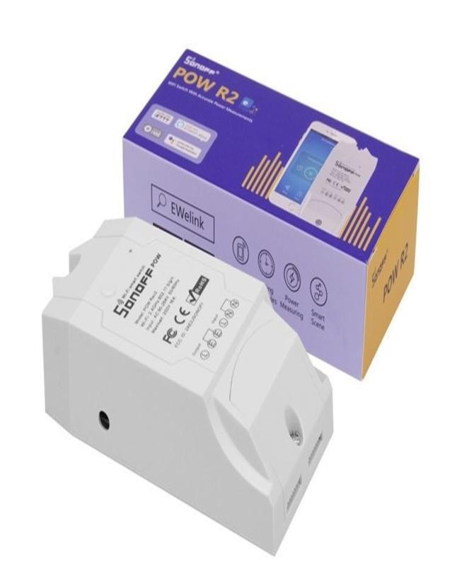 Pow R2 16A 3500W Wifi Smart Switch, Overload Protection And Power Measuring  Wi-Fi Switch Works With Alexa