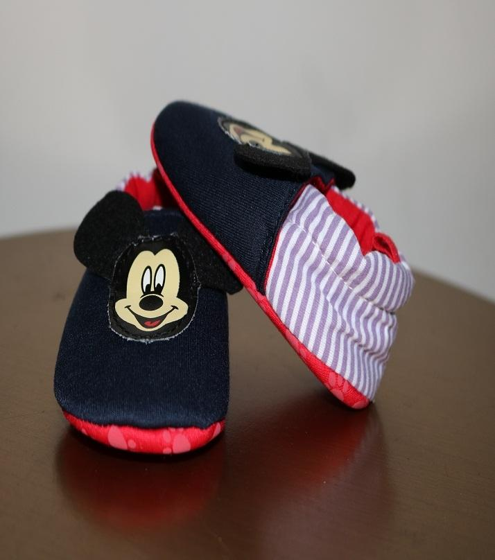 Multicolor Mickey Mouse Booties For Kids