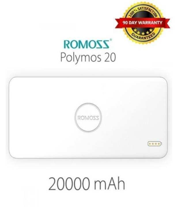 Polymos - 20000mAh - Dual USB Power Bank - White
