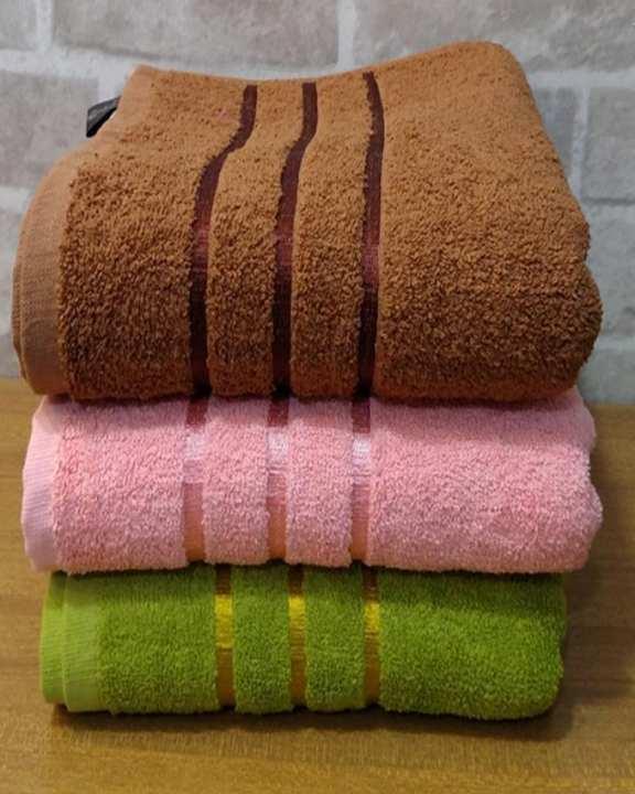Pack Of 3 - Bath Towels 3D Designs Multi Colours 20 X 40