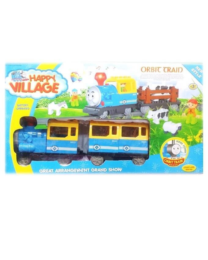 Happy Village Orbit Train - Multicolor