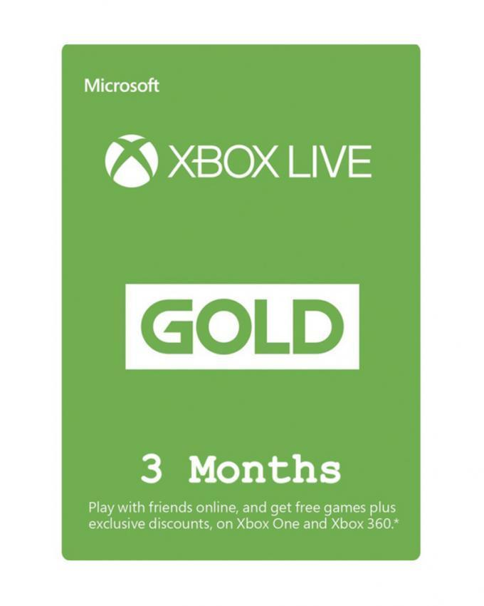 Xbox Live Gold Gift Card - 3 Months - Global - Microsoft Store