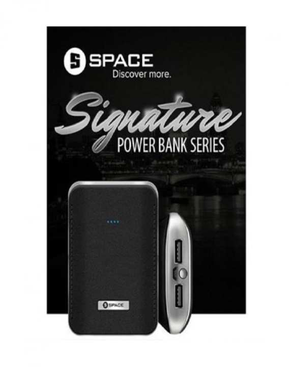 Space Ss-020 - Signature Power Bank - 8000 Mah - Black- Umair Shop
