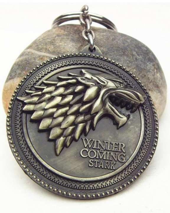 Game of Thrones Metal Pendant Keychain