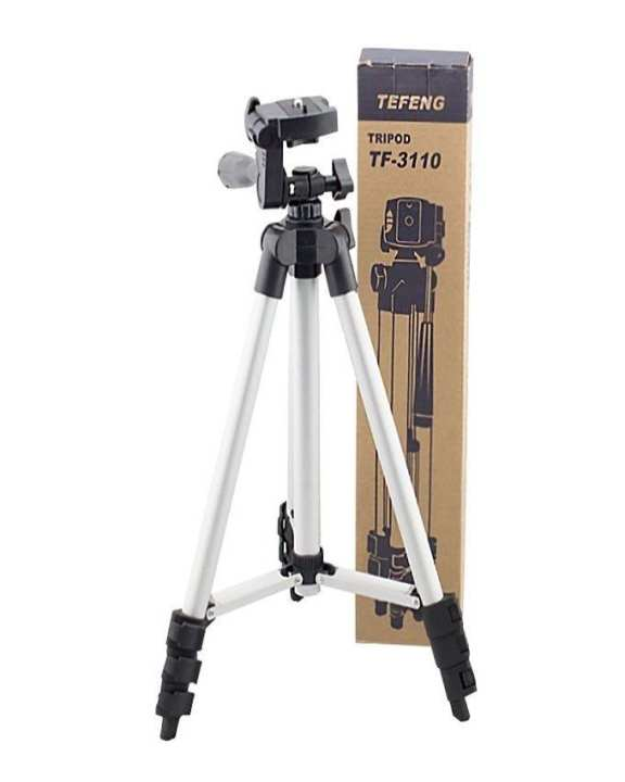 3110 - Tripod Stand For Camera And Mobile  - Black & Silver