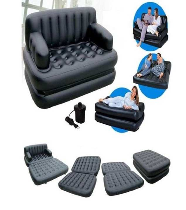 5 In 1 Inflatable Sofa - Black