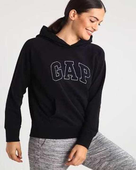 Black Gap Printed Hoodie For Women
