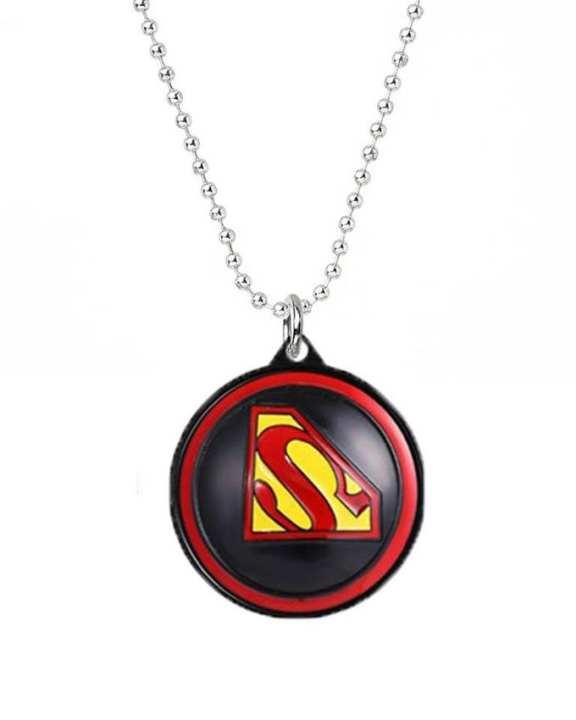 Superman 3D Rotating Red & Black Pendant