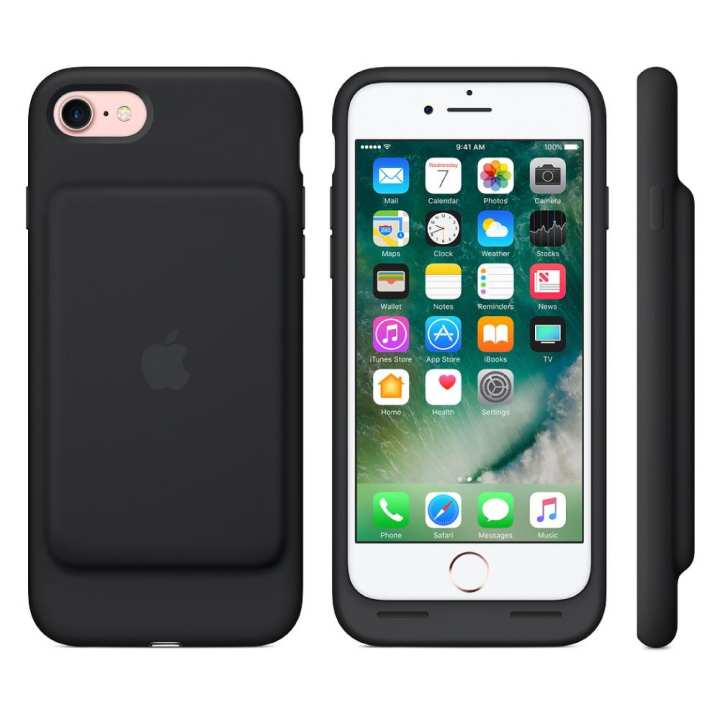 Apple iPhone 7 Smart Battery Case - Mobile Battery and Protection Cover - Black