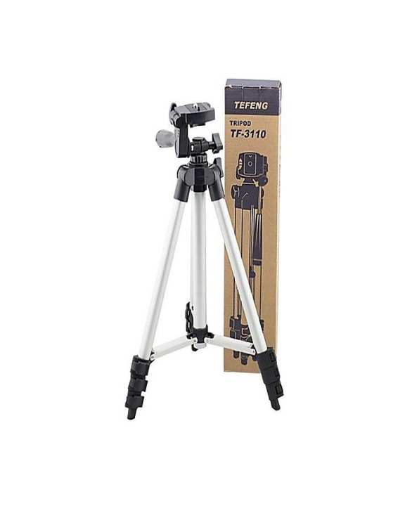 Tripod Stand For Camera And Mobile - Black & Silver