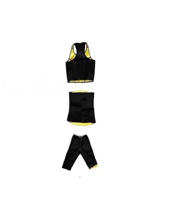 Pack Of 3 - Slimming Trouser & Bra & Hot Shaper Belt Med- Black & Yellow