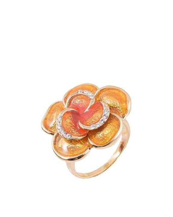 Caramel Enamelled Ring